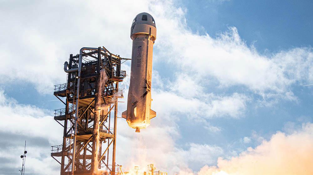 ¿Quién da más? Tu puedes ganar un boleto para el primer vuelo espacial de Blue Origin
