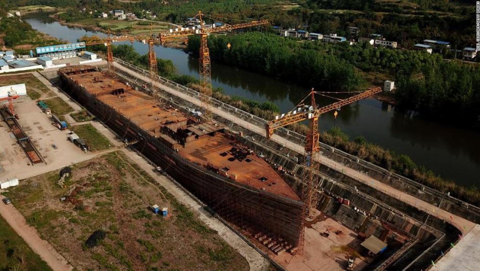 En China construyen una réplica exacta del Titanic para quienes quieran jugar a ser Jack o Rose