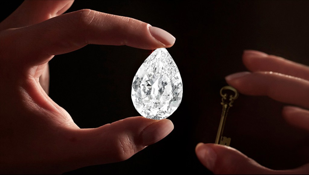 Este diamante de 101k vale su peso en… criptomonedas, específicamente 12.3 millones