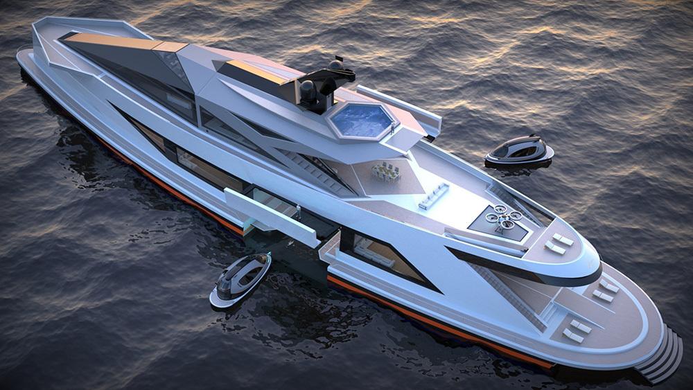 Lazzarini creó un increíble puerto flotante en el que todos querrán atracar