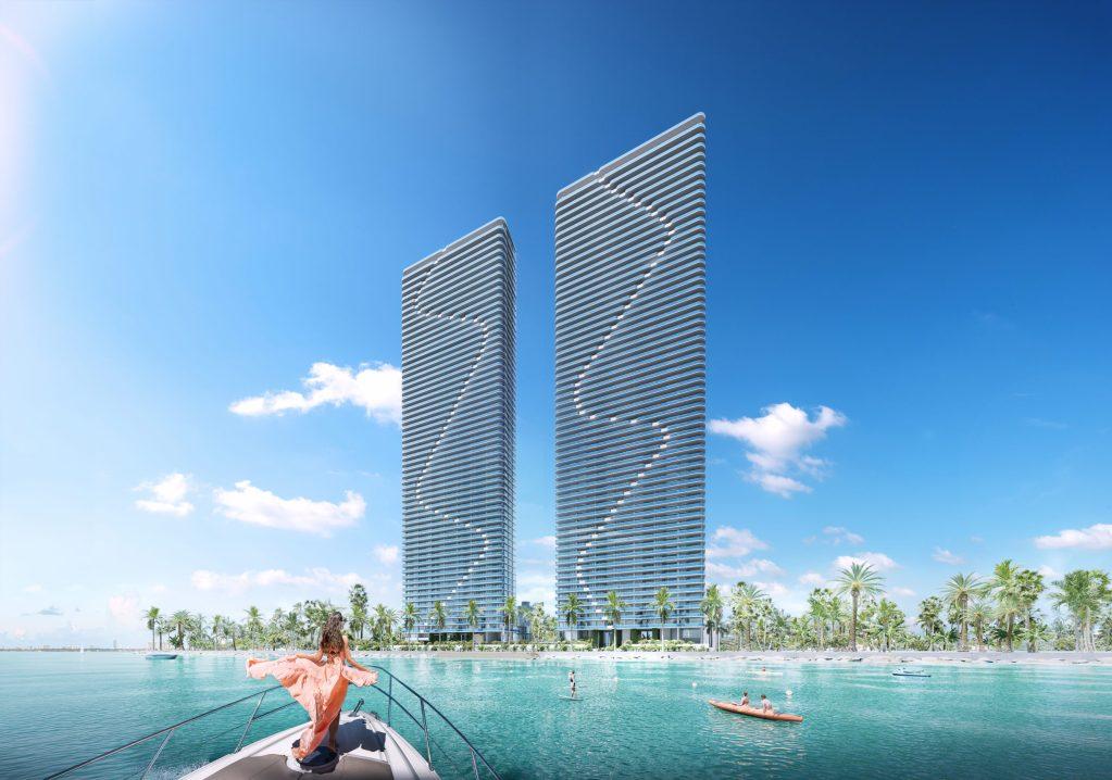 Vive en Aria Reserve Miami, las torres gemelas residenciales, frente al mar, más altas de EE.UU.