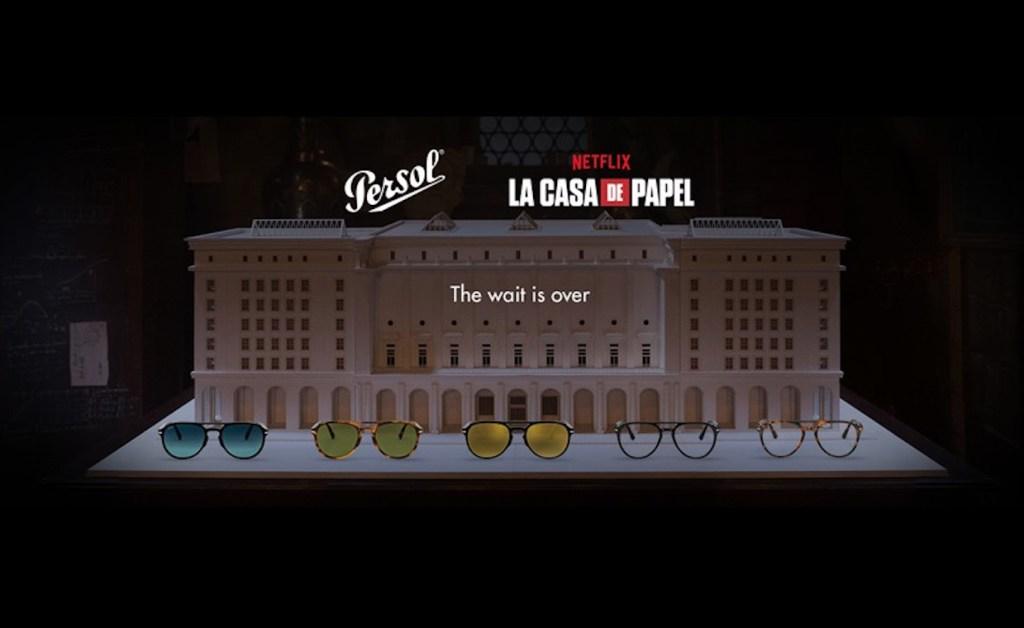 Persol lanza una colección de gafas inspiradas en El Profesor de La Casa de Papel