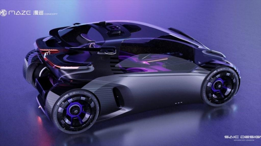 MG Maze Concept es más que auto eléctrico, un videojuego sobre ruedas