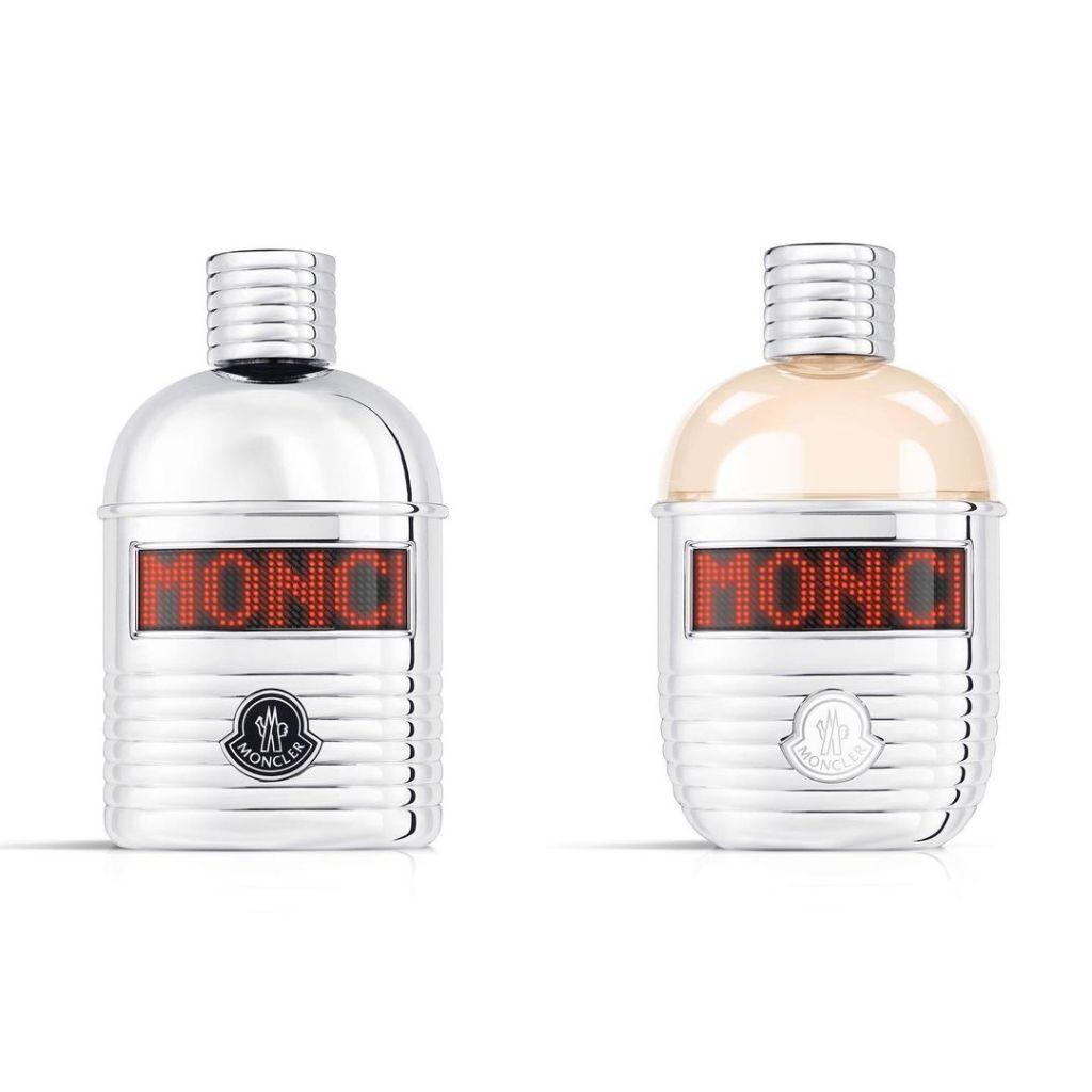 La primera fragancia de Moncler viene en una botella con pantalla LED personalizable