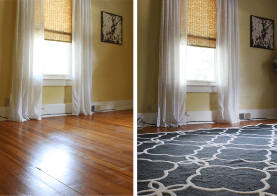 area rugs and hardwood floors by Robb Restyle