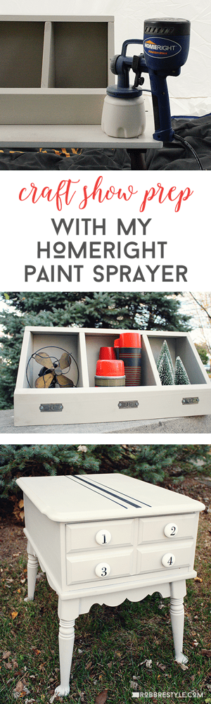 Craft Show Prep with HomeRight Paint Sprayer