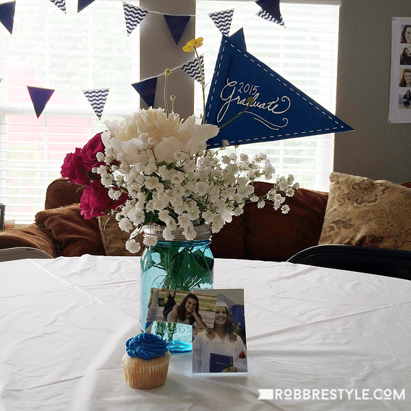 DIY grad party ideas fresh flowers