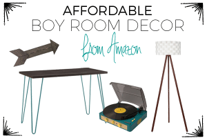 Affordable boy room decor ideas from Amazon.