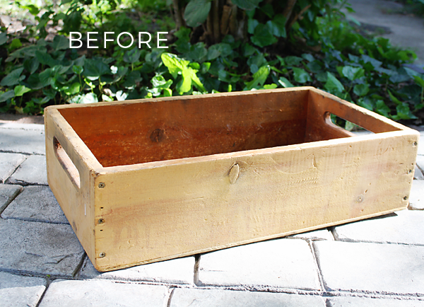 Flea market flip: DIY Farmhouse Flower Box