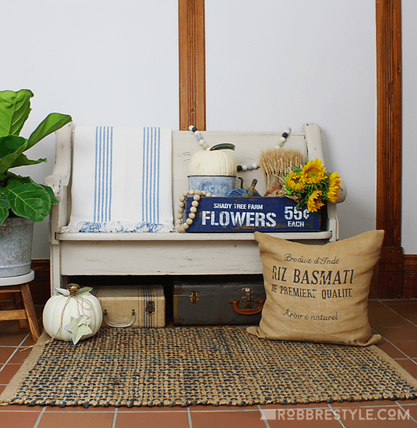 DIY Farmhouse Flower Box and Fall Decor Ideas