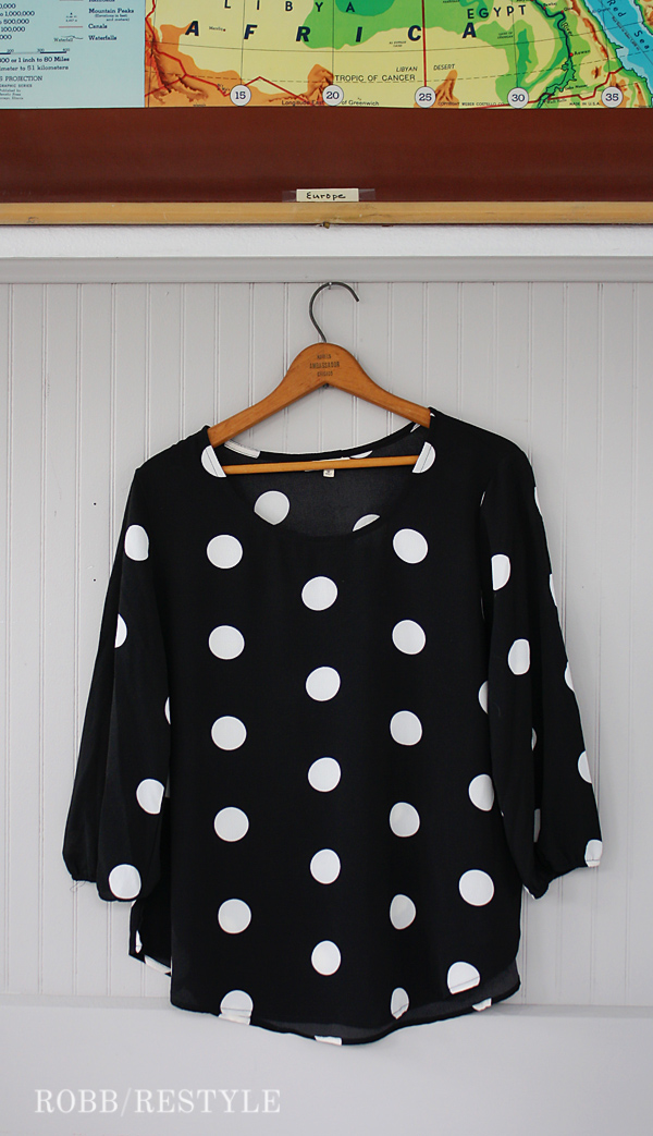 Stitch Fix Polka Dot Shirt Outfit Idea