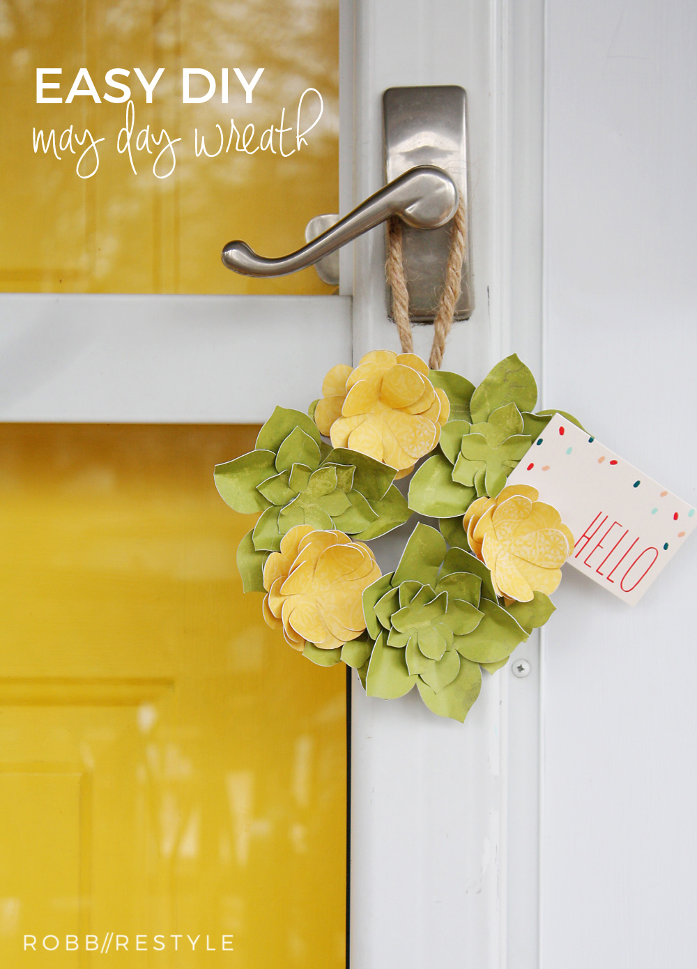 Easy DIY May Day Wreath