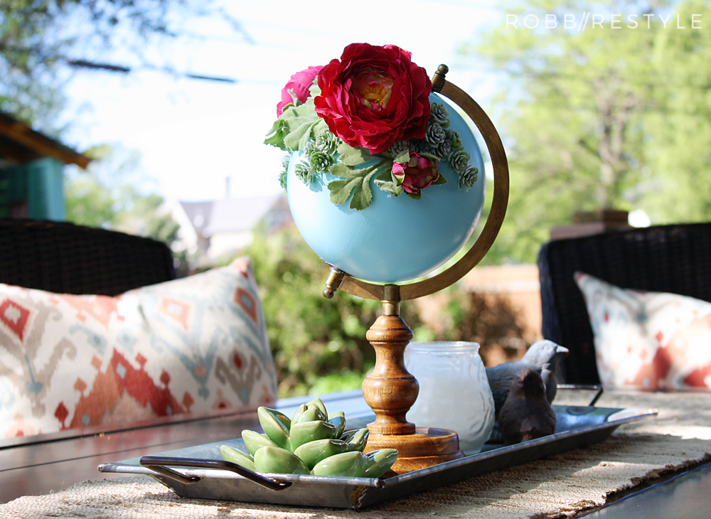 DIY Flower Garden Globe Patio Project