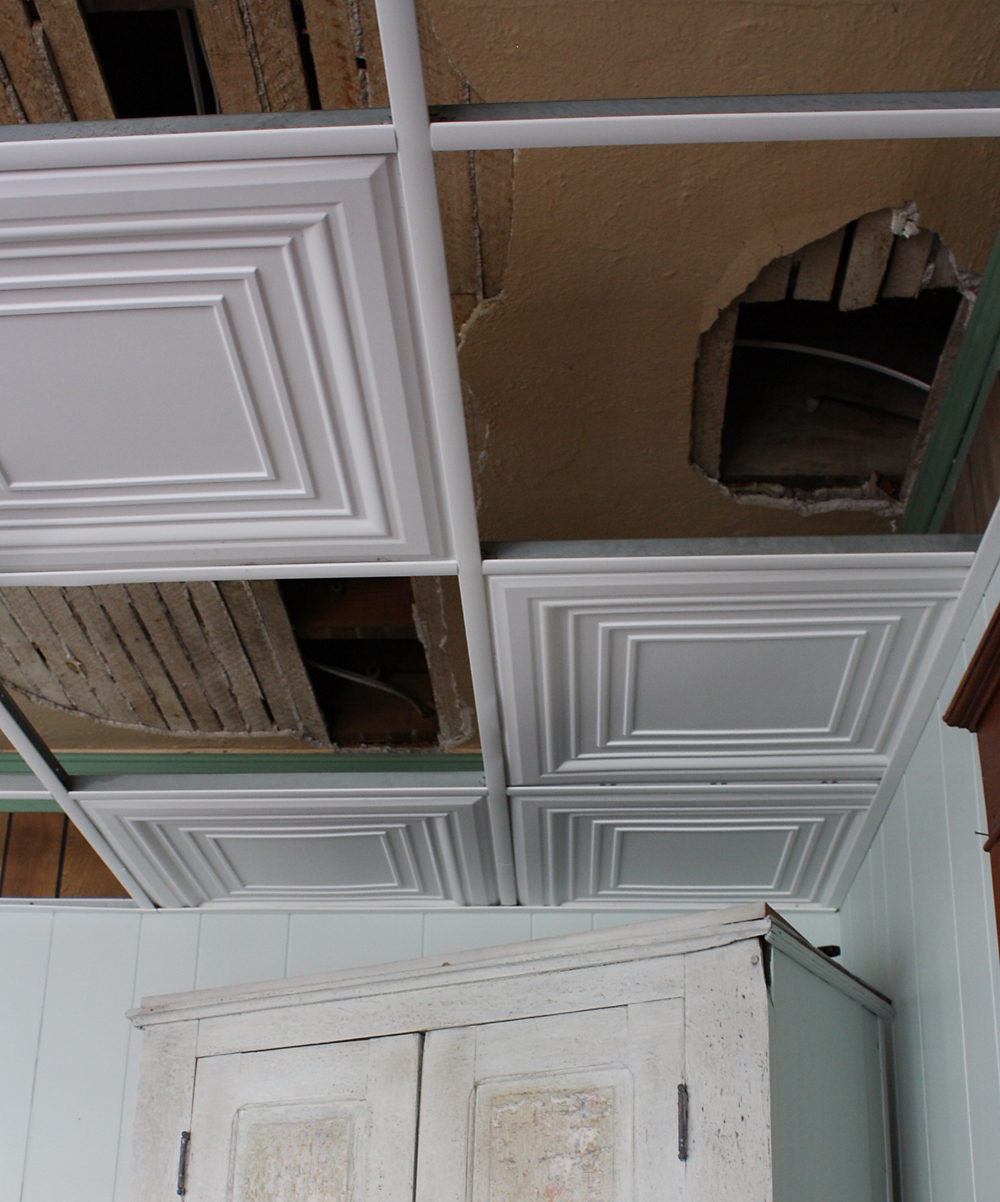how to easily update your ugly tile ceiling - What Is A Drop Ceiling
