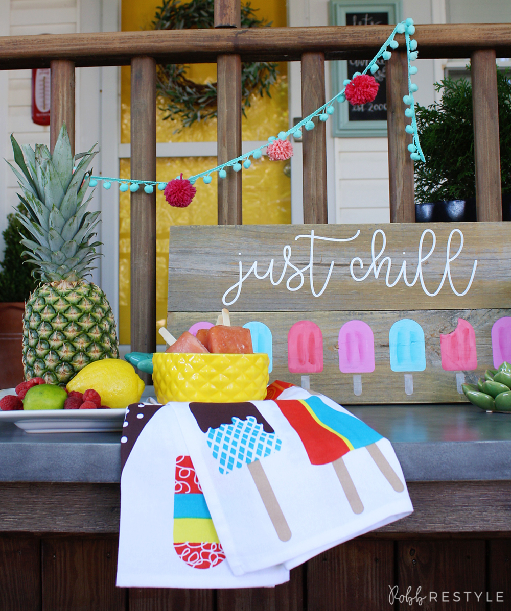 DIY Ice Pop Painted Sign