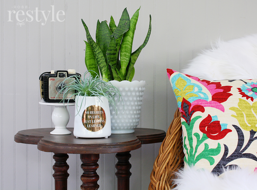 boho style table makeover