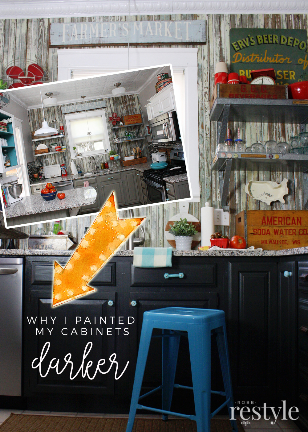 why i painted my cabinets again