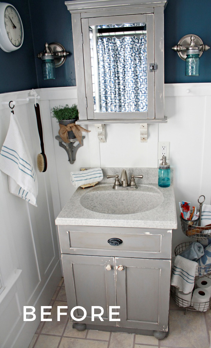 Small Bathroom Ideas with Vintage Decor | Robb Restyle on Ideas For Small Bathrooms  id=30938