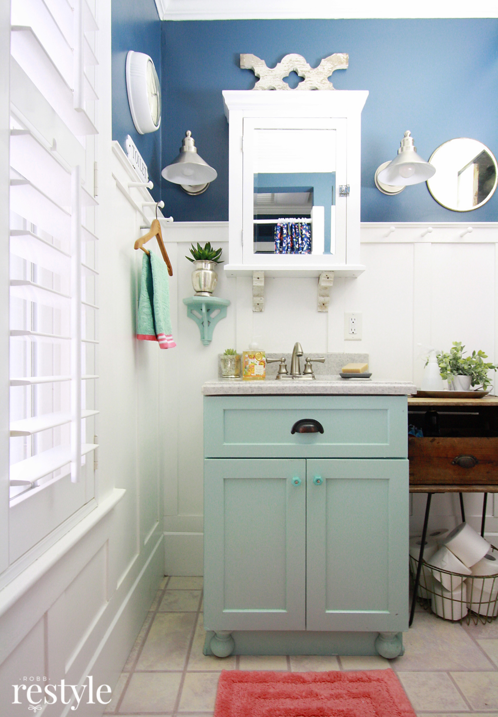 Paint your builder grade bathroom vanity.