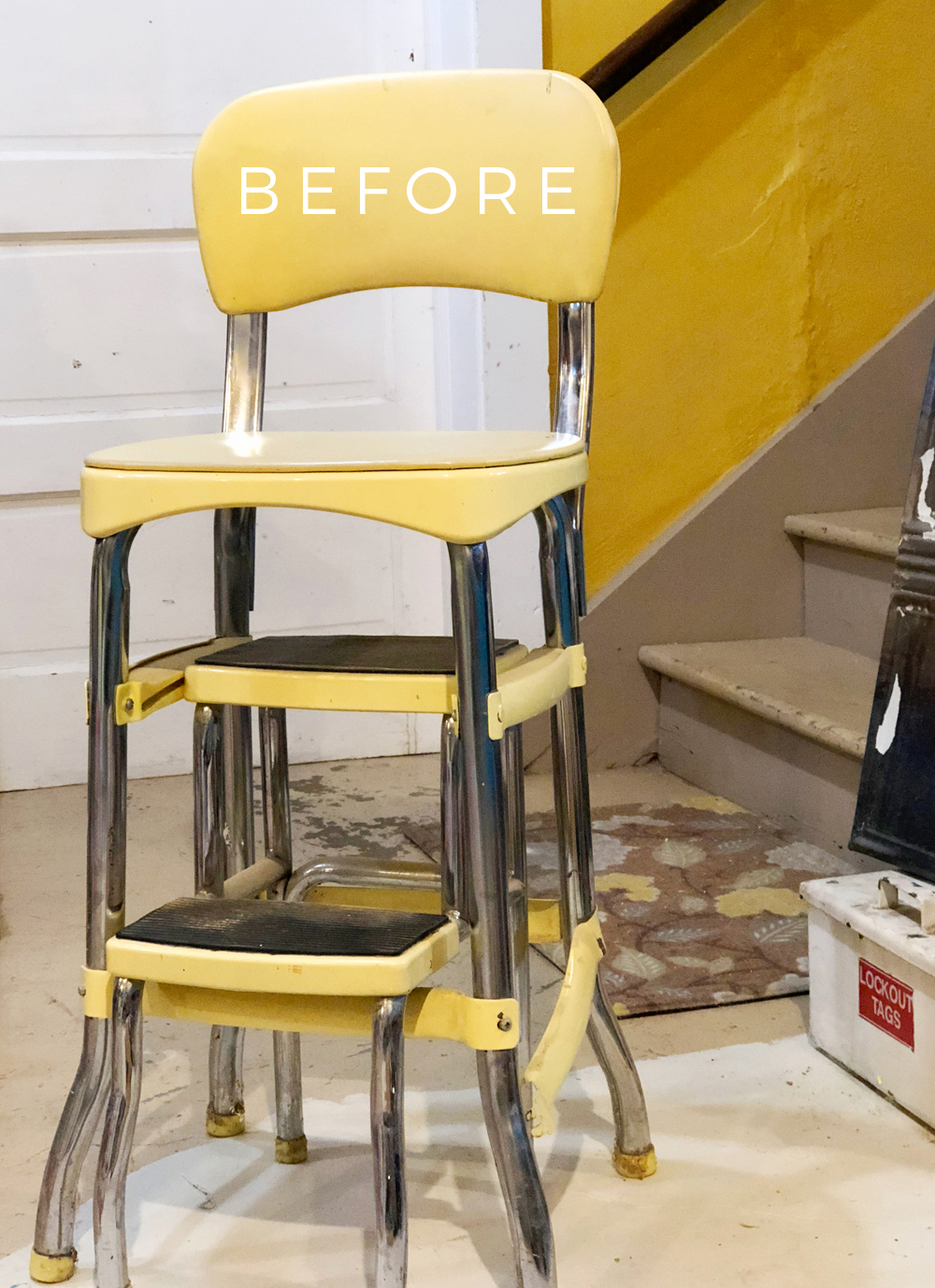 Yellow Cosco Step Stool