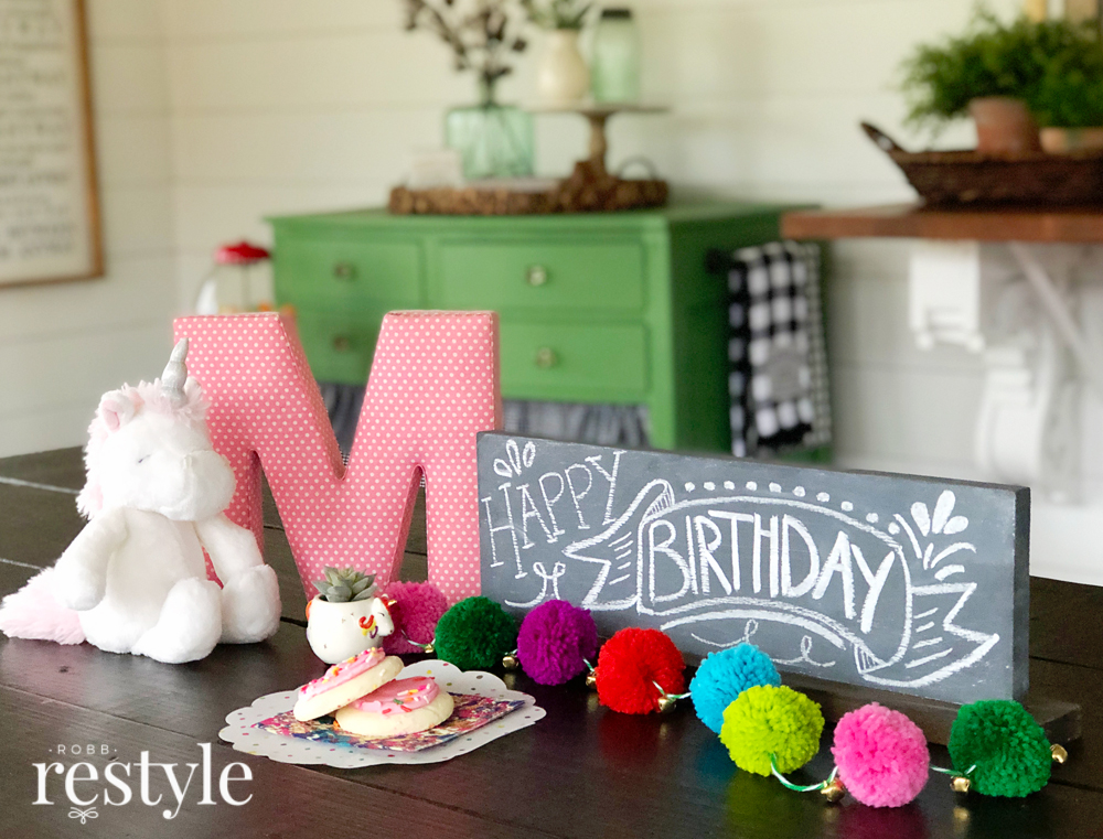 Birthday Chalkboard Idea