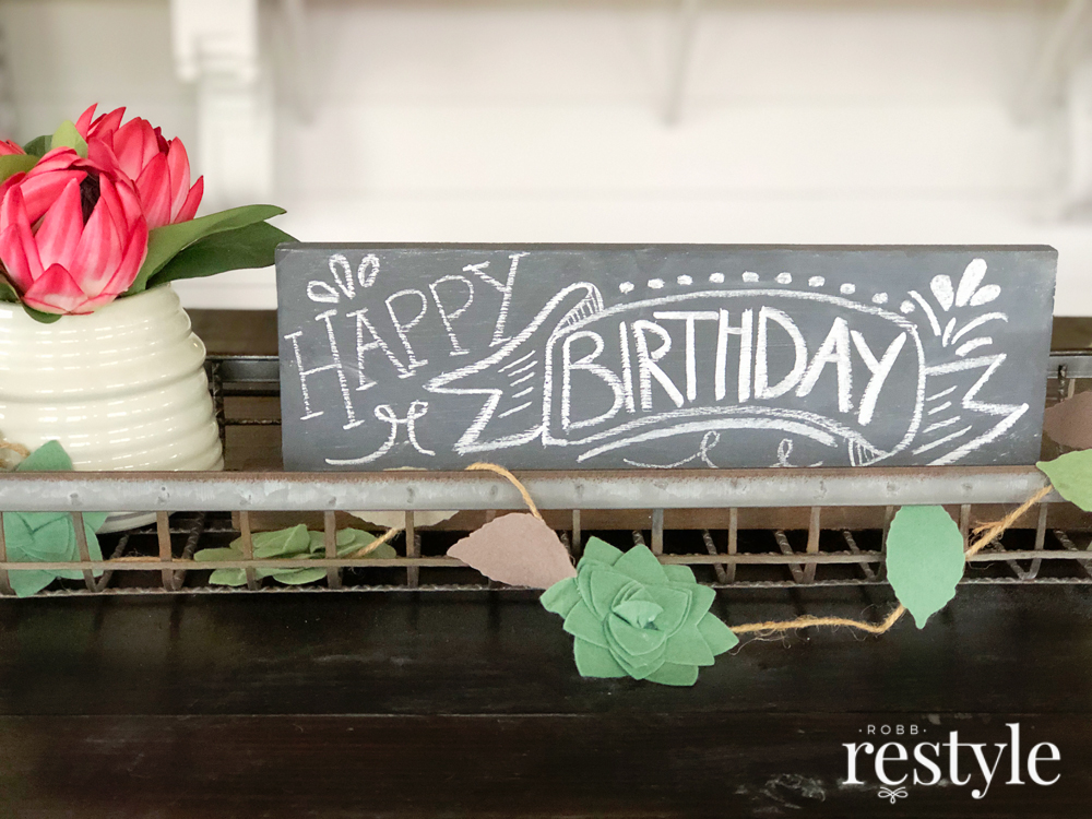 Happy Birthday Chalkboard Lettering Idea