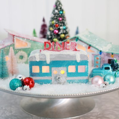 DIY Christmas Village Retro Diner