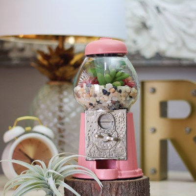 Vintage Gumball Machine Planter