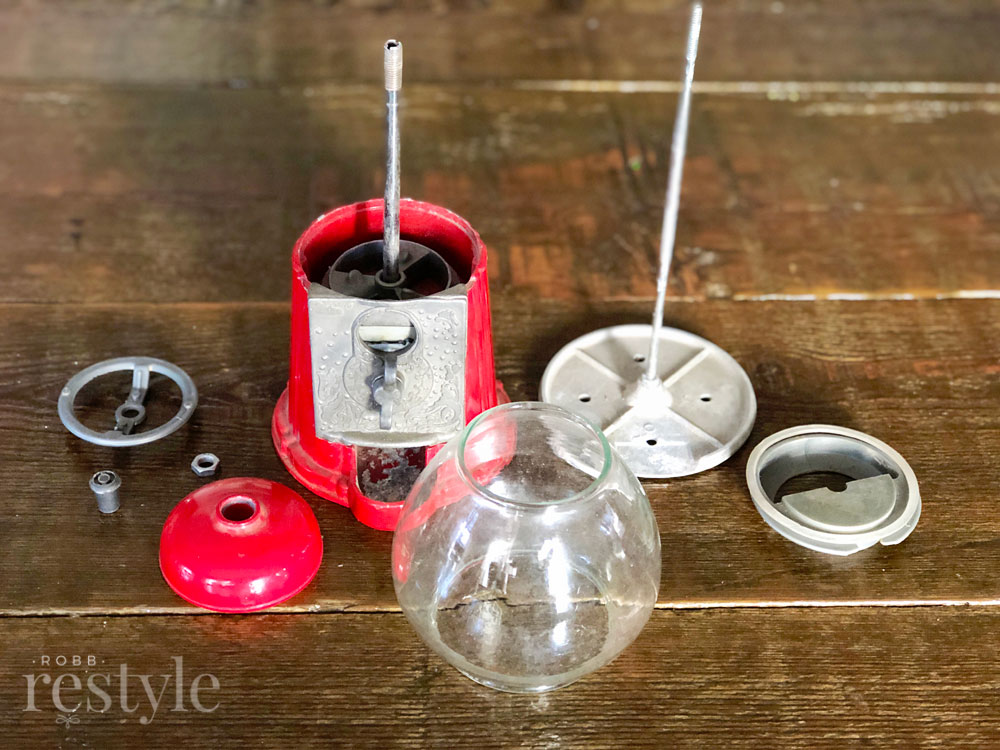Vintage Gumball Machine Deconstructed