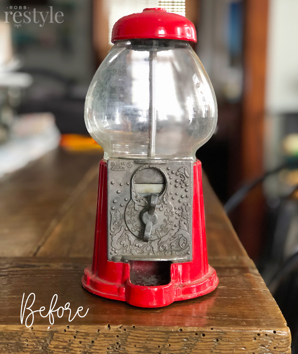 How to upcycle vintage gumball machine