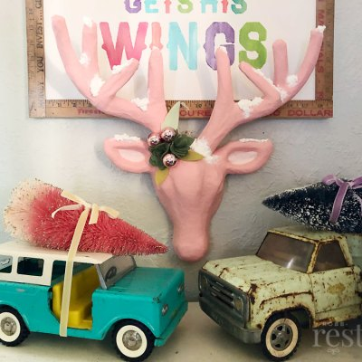 Pretty Pink Reindeer Holiday Decor