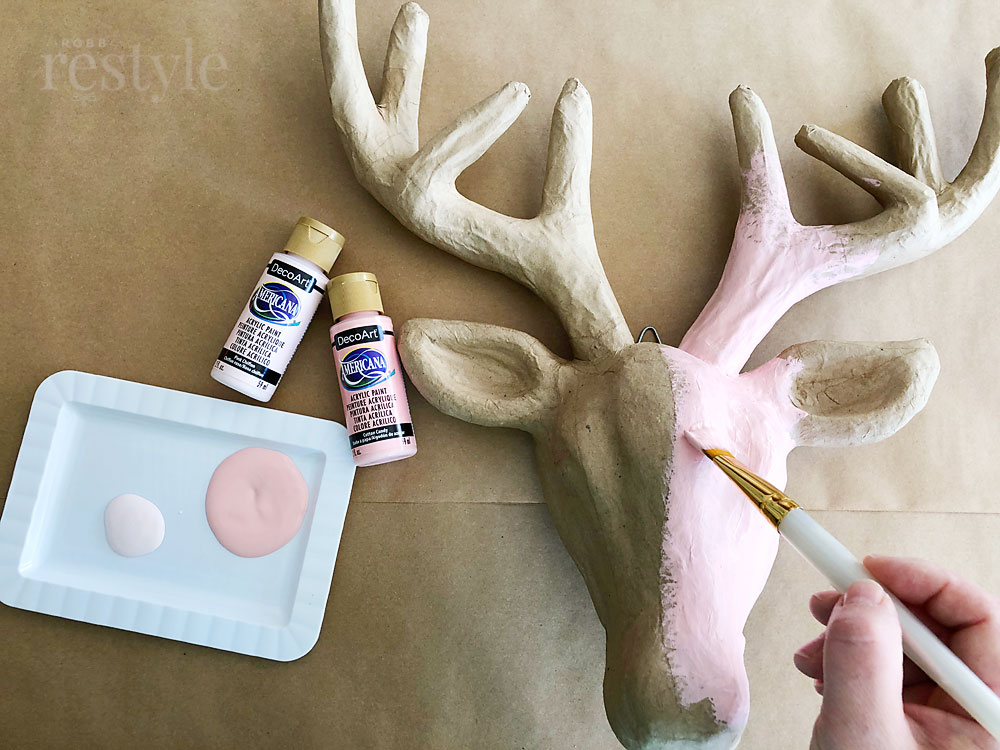 Paint Deer Head Pink