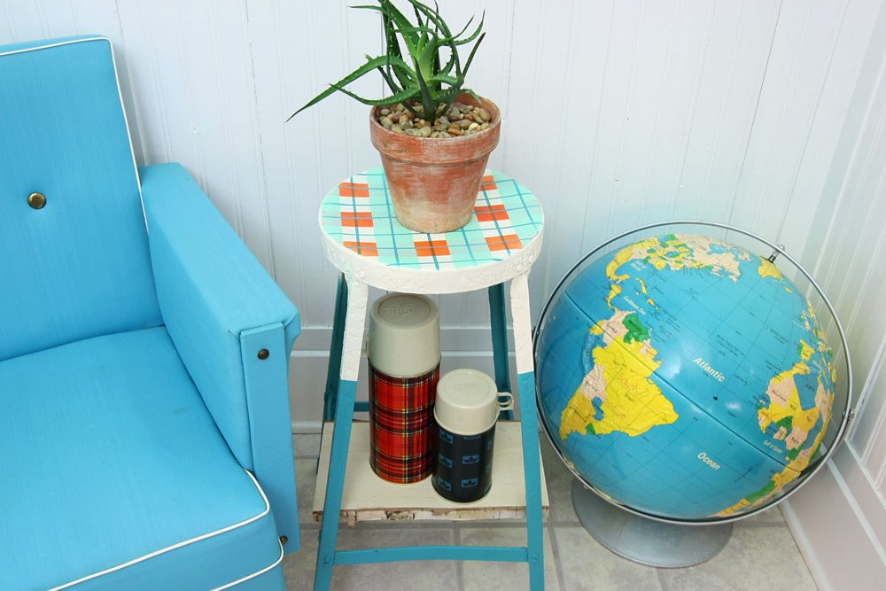 diy metal stool makeover