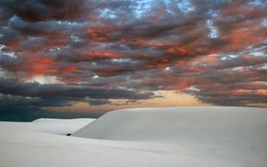 Quite a colorful display while in one of the most colorless places on Earth - White Sands National Monument, New Mexico