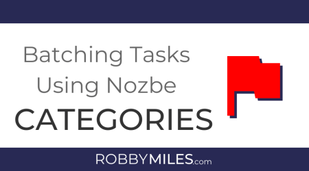 Batching Tasks Using Nozbe Categories