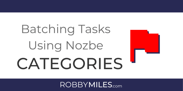 Batching Tasks Using Nozbe Categories