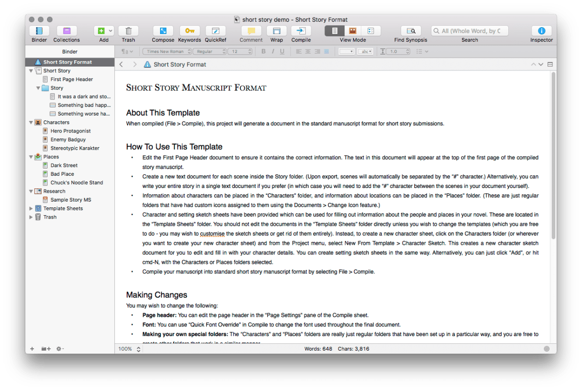 Writing With Scrivener Part 1 Robcee