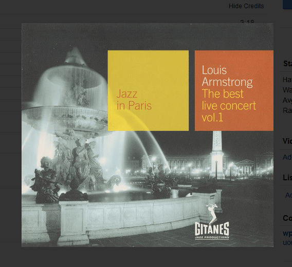 louis armstrong jazz in paris