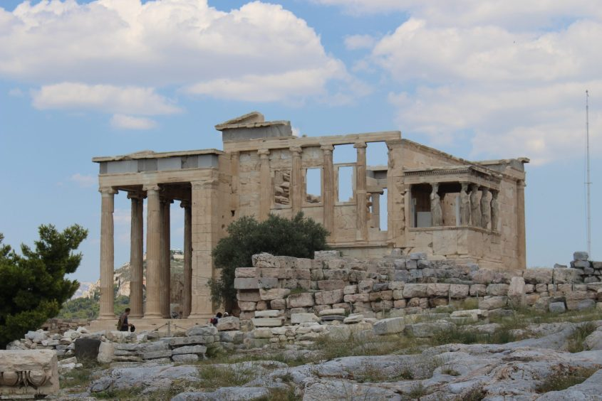 The Erechtheion and Temple of Poseidon with the Porch of the Caryatids