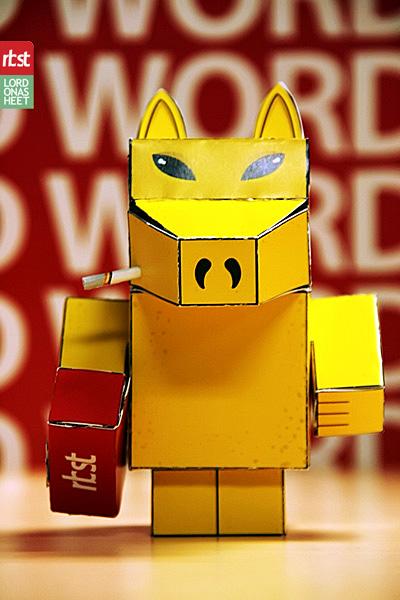 Papercraft: RBST x Cubeecraft Quasimoto (Lord on a Sheet) (2/3)