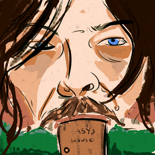 norman reedus is a baby house - robek world coaches corner