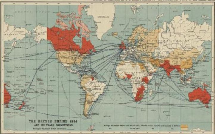 British empire trade routes