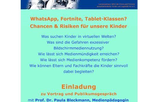 Medienerziehung: Informationsabend für Eltern am 19.03.2020