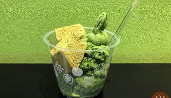 濃抹茶冰淇淋抹茶蕨餅