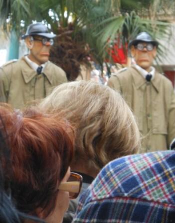 Lemon Festival, Menton, France, scary men