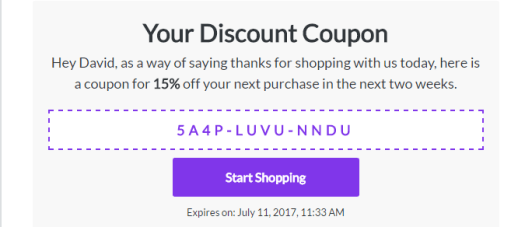 Conversio Shopify App Custom Coupon