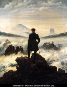 Caspar Friedrich - The Wanderer above the Sea of Fog (1818) (courtesy of www.caspardavidfriedrich.org))