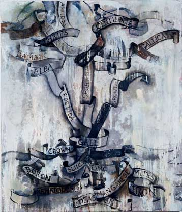 "Life and Death of Rosa; approx. 56"" x 72"" circa 1986, Robert Egert"