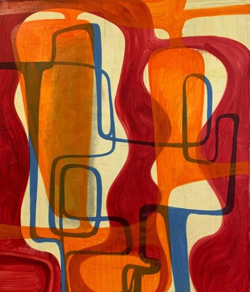 Orange Forest Painting by Robert Egert 2019