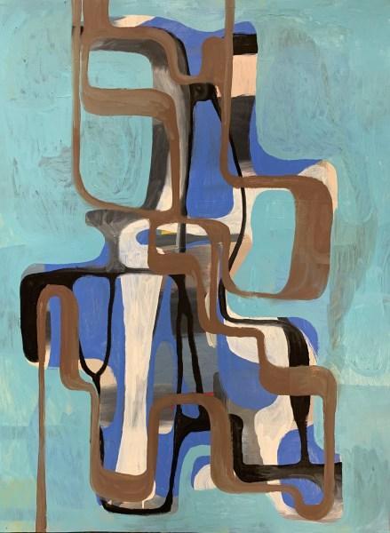 "Preliminarie Acadamie No10 by Robert Egert 22.5"" x 32.5"", 2019 by Robert Egert, oil and shellac on prepared paper"